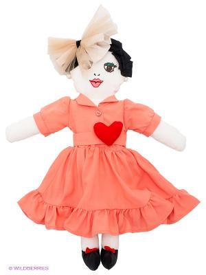 Кукла Vika Smolyanitskaya. Цвет: коралловый, белый, черный, красный