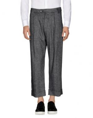 Повседневные брюки NOSTRASANTISSIMA. Цвет: свинцово-серый