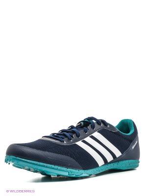 Кроссовки Distancestar Adidas. Цвет: темно-синий