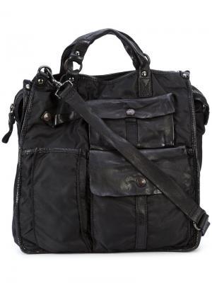 Квадратная сумка-тоут Campomaggi. Цвет: чёрный