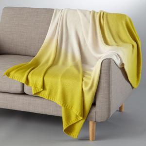 Плед с эффектом деграде La Redoute Interieurs. Цвет: зелено-желтый/серо-бежевый,темно-серый/серый