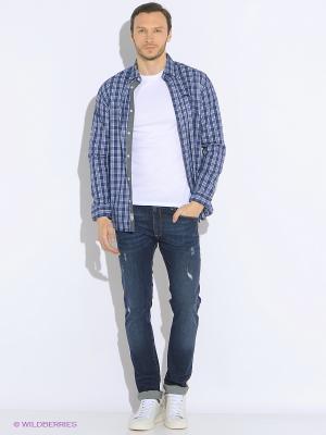 Рубашка LEE COOPER. Цвет: синий