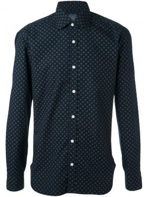Рубашка с геометрическим принтом Barba. Цвет: синий