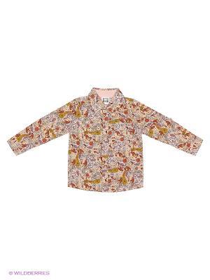 Рубашка JERRY JOY. Цвет: бледно-розовый, персиковый, кремовый