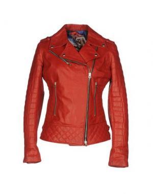 Куртка CUERO. Цвет: красный