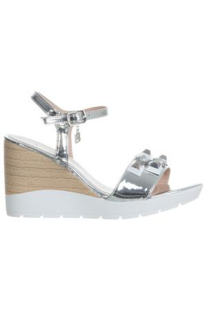 High heels sandals Laura Biagiotti. Цвет: silver