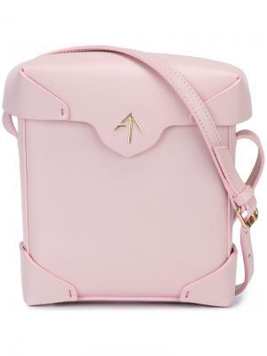 Мини-сумка Pristine Manu Atelier. Цвет: розовый и фиолетовый