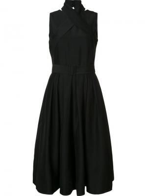 Платье с поясом Martin Grant. Цвет: чёрный