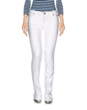Джинсовые брюки SIVIGLIA DENIM. Цвет: белый