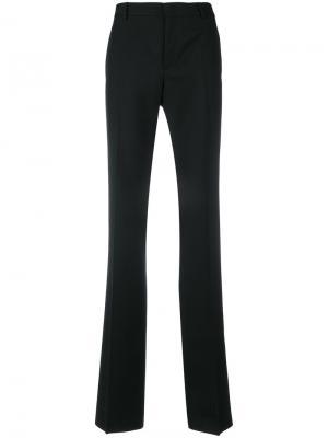 Расклешенные классические брюки Saint Laurent. Цвет: чёрный