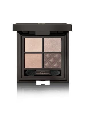 Тени для век четырехцветные IDYLLIC SOFT SATIN  (WITHOUT MIRROR) No.28 GA-DE. Цвет: коричневый, светло-коричневый, светло-бежевый, бежевый, темно-коричневый