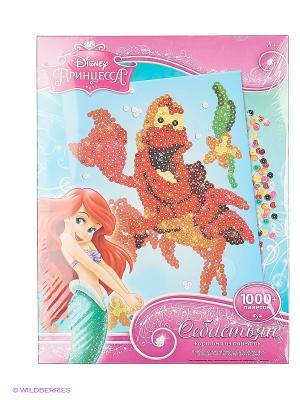 Disney Princess Картинка из пайеток Себастьян Чудо-творчество. Цвет: красный, зеленый, голубой