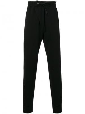 Спортивные брюки с заниженной проймой Manuel Marte. Цвет: чёрный