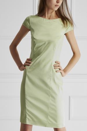 Однотонное платье Cambusa Marella. Цвет: зеленый