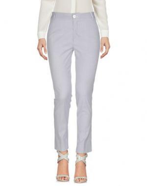 Повседневные брюки SPAGO DONNA. Цвет: грифельно-синий