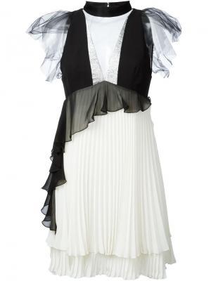 Плиссированное платье Daniele Carlotta. Цвет: белый