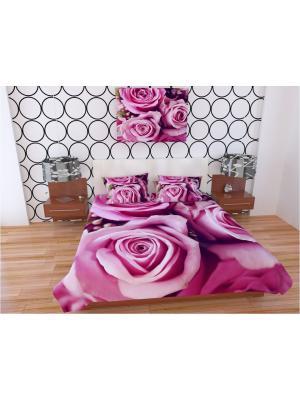 Покрывало Афродита ФПГБ145-220/ Олимп Текстиль. Цвет: бежевый, бледно-розовый, коралловый, розовый, фуксия