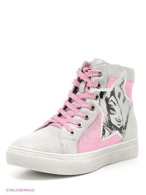 Кеды Kakadu. Цвет: розовый, светло-серый
