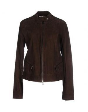 Куртка GOLD CASE. Цвет: темно-коричневый