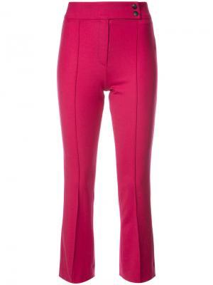 Укороченные расклешенные брюки Veronica Beard. Цвет: розовый и фиолетовый