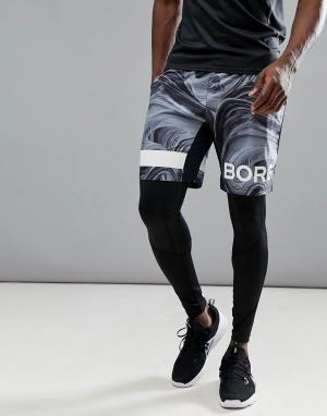 Bjorn Borg Шорты с логотипом Performance. Цвет: черный