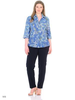 Блузка, модель Бриз Dorothy's Нome. Цвет: синий, белый, зеленый