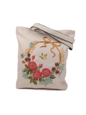 Наборы для шитья и вышивания  текстильная сумка Цветочный венок Матренин Посад. Цвет: розовый