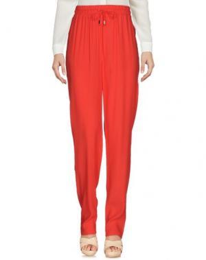 Повседневные брюки SORELLE SECLÌ. Цвет: коралловый