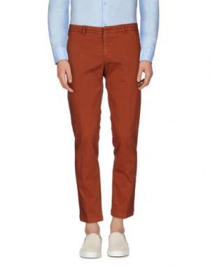 Повседневные брюки MASSIMO BRUNELLI. Цвет: коричневый