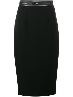 Юбка-карандаш с логотипом Dolce & Gabbana. Цвет: чёрный