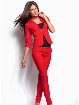Костюм с пиджаком GEPUR. Цвет: красный