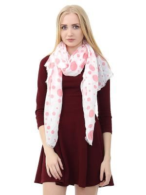 Платок Infiniti. Цвет: белый, розовый