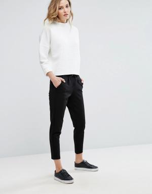 JDY Свободные штаны. Цвет: черный