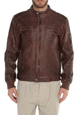 Полуприлегающая куртка с четырьмя карманами Gaudi. Цвет: 2367 коричневый
