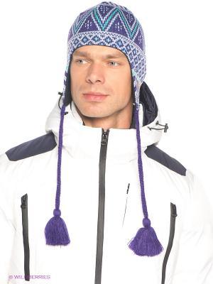 Шапка Columbia. Цвет: фиолетовый, бирюзовый, голубой
