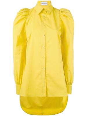 Puff sleeve shirt Daizy Shely. Цвет: жёлтый и оранжевый