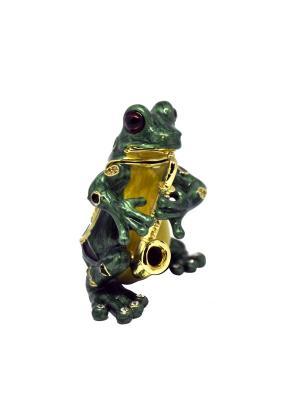 Шкатулка Лягушка саксофонист Yen Ten. Цвет: зеленый