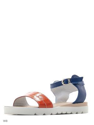 Сандалии Walrus. Цвет: голубой, рыжий