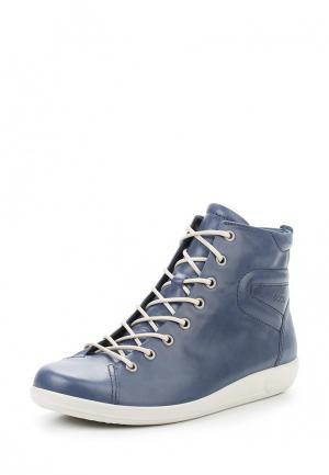 Ботинки SOFT 2.0 Ecco. Цвет: синий