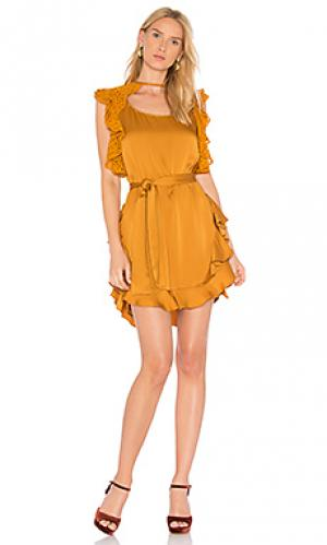 Платье mateo Marissa Webb. Цвет: горчичный