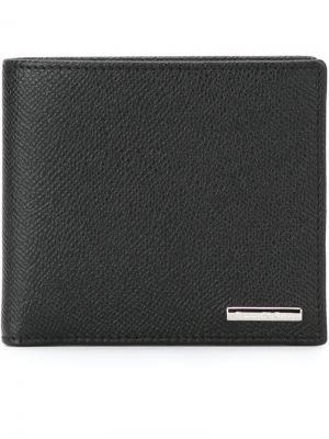 Классический бумажник Ermenegildo Zegna. Цвет: чёрный