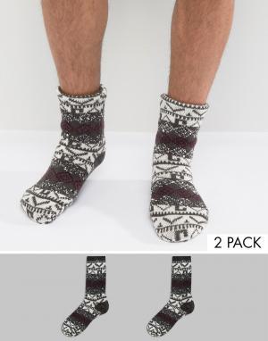 Totes Фактурные носки-слиперы с узором Фэйр-Айл. Цвет: синий
