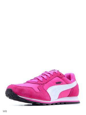 Кроссовки ST Runner NL Puma. Цвет: фуксия, фиолетовый
