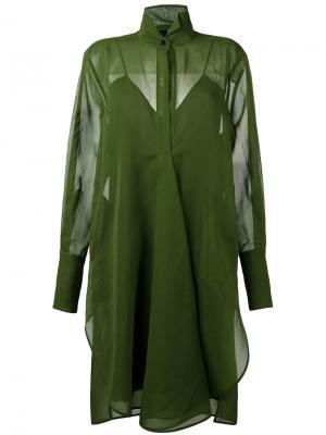 Платье-рубашка Petar Petrov. Цвет: зелёный
