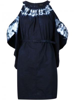 Платье с открытыми плечами Rachel Comey. Цвет: синий