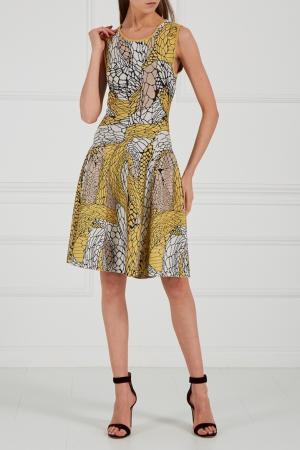 Трикотажное платье с узорами Issa London. Цвет: multicolor