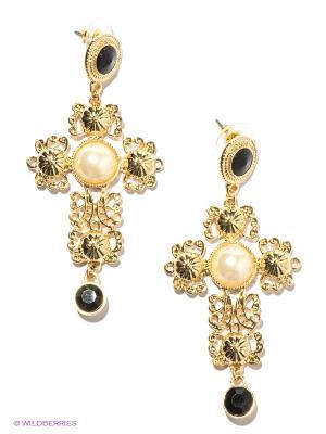 Серьги Milana Style. Цвет: золотистый, черный