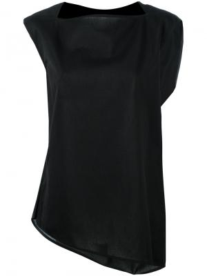 Драпированная блуза Rick Owens. Цвет: чёрный