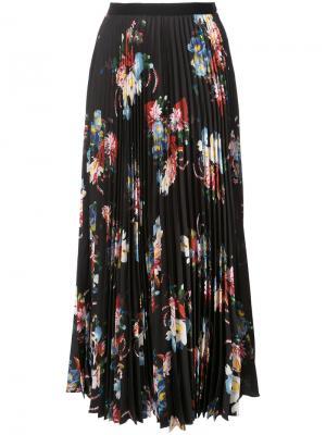 Длинная юбка с цветочным принтом Erdem. Цвет: чёрный