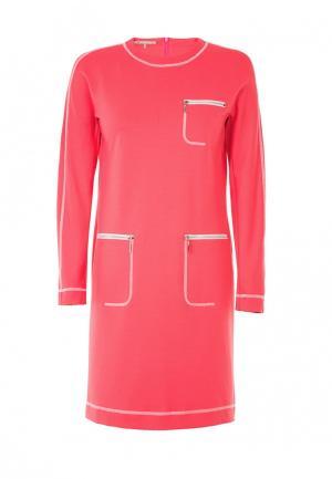 Платье LO. Цвет: коралловый